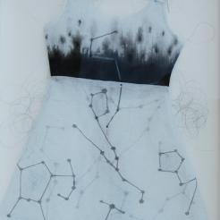 2016, Fabric, Artist's Hair, 20X16 inch.