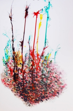 Thumbprints and Ink on Paper