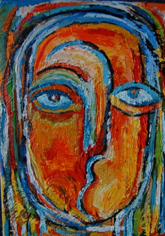 The Dreamer - 2, 2009, Oil on Canvas Board, 8 X 10 inch.