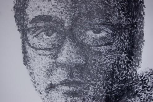 2013, Thumbprints on Paper, 7 feet X 5 feet