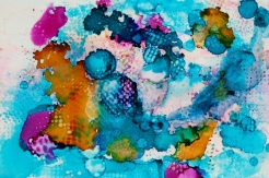 2016, Alcohol Ink on Yupo Paper, 12X9 inch.
