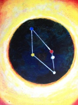 Constellationscape – 75/88 (Scutum) 2017, Acrylic on Canvas, 10 X 8 inch.