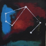 Constellationscape – 82/88 (Tucana) 2017, Acrylic on Wood Panel , 6 X 6 inch.