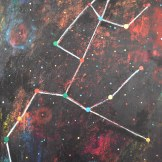 Constellationscape – 83/88 (Ursa Major) 2017, Acrylic on Metal, 16 X 20 inch.
