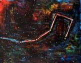 Constellationscape – 84/88 (Ursa Minor) 2017, Acrylic on Metal, 20 X 16 inch.