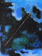 Constellationscape – 69/88 (Pyxis) 2017, Acrylic on Canvas Board, 16 X 12 inch.
