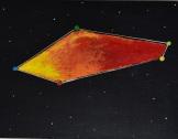 Constellationscape – 22/88 (Camaeleon) 2017, Acrylic on Canvas Board, 12 X 16 inch.